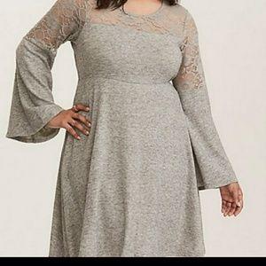 🆕NWOT Torrid Woven Gray Dress Sx.1X